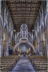 Inside Llandaff Cathedral