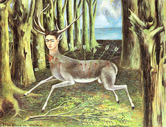 Al ribelulino,  pentris Kahlo