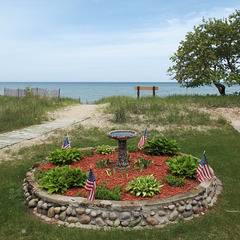 Lake Huron birdbath for U.S. birds.