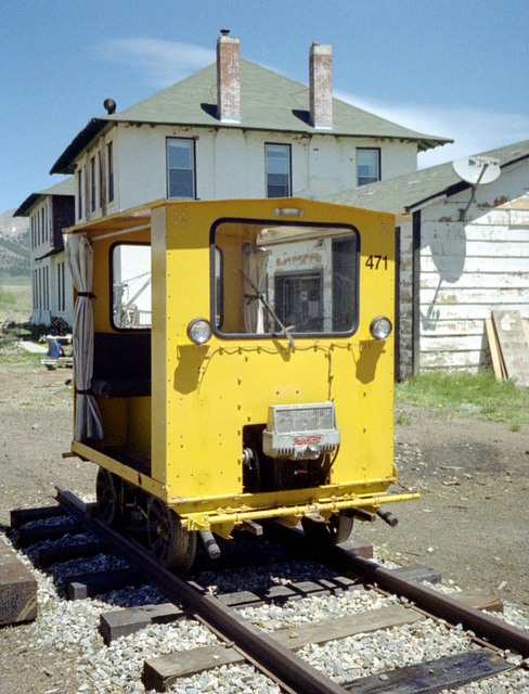 Narrow gauge speeder, Como Colorado