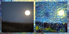Van Gogh style Supermoon