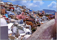 Santorini : panoramica di Oia e le sue Chiese - (990)
