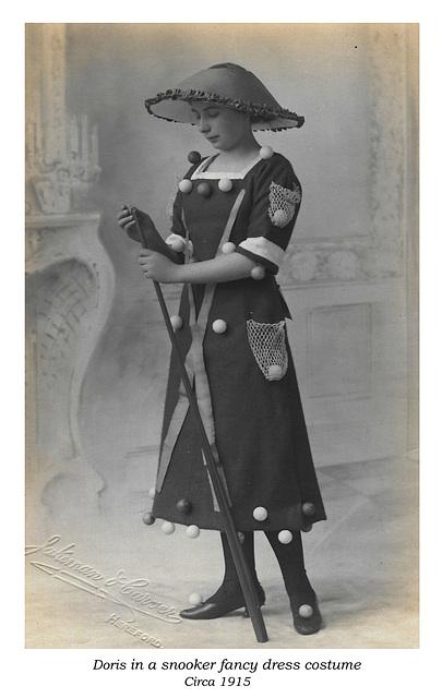Doris in snooker costume c 1915