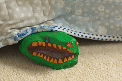 There's a crocodile under the bed!