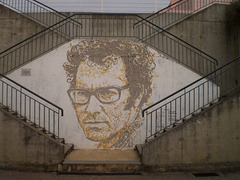 Portrait of José Afonso, by Vhils.