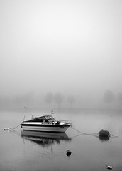 River Leven in the Fog