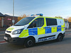 Hampshire Police Transit in Gosport - 30 April 2019