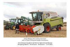 Claas Medion 340 combine harvester with Claas c450 attachment