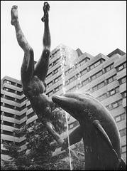 """Girl with a dolphin"" (David Wynne - 1973)"