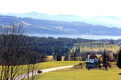 Blick von Scheidegg hinüber in den Bregenzerwald