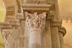 Vezelay, chapiteau, La balance et les gémeaux