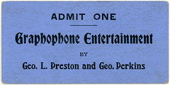 Graphophone Entertainment Ticket