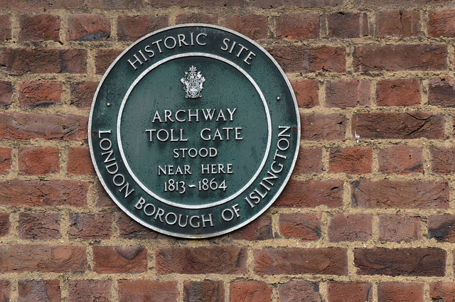 Archway Toll Gate plaque