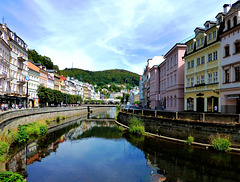 CZ - Karlovy Vary - View of the Tepla