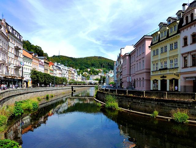 CZ - Karlovy Vary - View of the Tepla