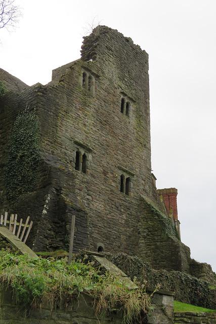 hay on wye castle , powys, wales