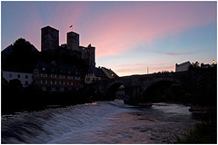 Runkel after sunset