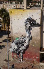 Heron, by Bordalo II.