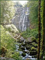 Une des cascades du Hérisson (39) 4 août 2011.