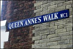 Queen Anne's Walk sign