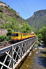 Train Jaune sur la Têt