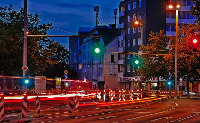 """""""WIRRE"""" - Lichtinstallation der Straßenbaumeisterei Braunschweig, im Rahmen des Lichtparcours 2016"""