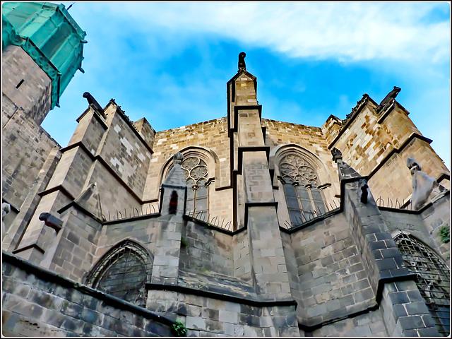 Barcellona : La Cattedrale in restauro (da anni)