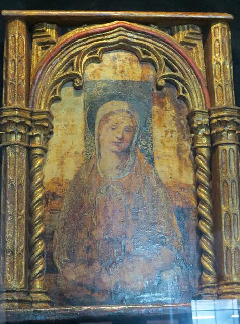 Musée de la ville de Split : sainte Vierge, peinture a tempera.