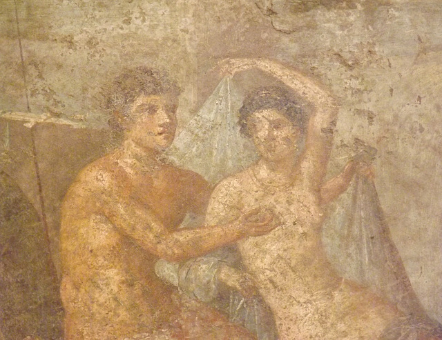 Detail of the Ares and Aphrodite Wall Painting in the Naples Archaeological Museum, July 2012