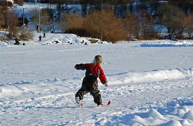 Norwegians are born with skis on their feet