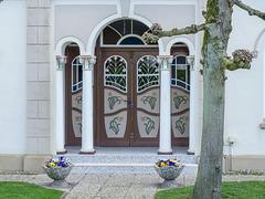 Schöner Hauseingang am Estedeich
