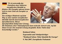 Reinhard Selten, Eŭrope Identeco, DE
