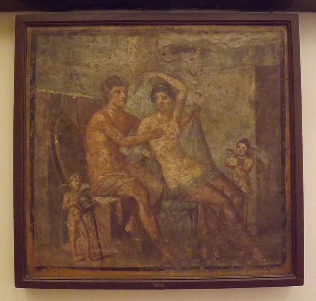 Ares and Aphrodite Wall Painting in the Naples Archaeological Museum, July 2012