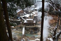Japan, Jigokudani Yaen-Kōen Snow Monkey Park, Hot spring Korakukan Guest House (Ryokan)