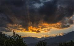 Crepuscle a la Vall de Ribes