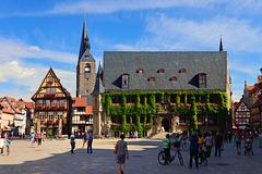 Quedlinburg, Marktplatz mit Rathaus