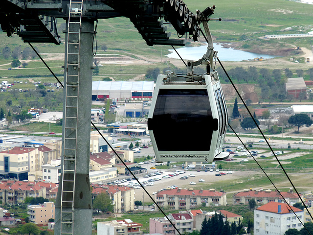 Pergamon- Cable Car From the Acropolis
