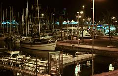 Nacht im Hafen von Funchal - Night in the port of Funchal - Nuit dans le port de Funchal