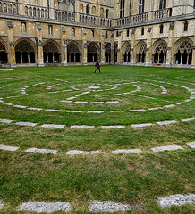 Starting to walk the labyrinth