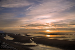 Sunset and Wet Sand