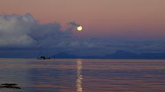 6h 30 coucher de lune et lever du soleil. pip