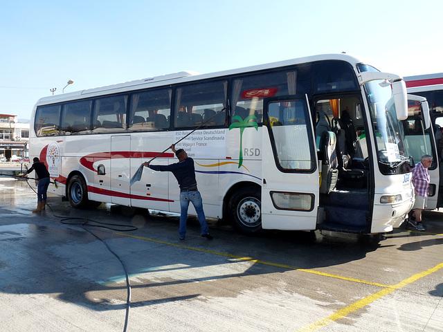 Our Tour Bus Gets a Clean