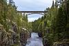 34m hohe Eisenbahnbrücke von 1902