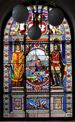 Stained Glass in Council Chamber, Former Town Hall, High Street, Lowestoft, Suffolk