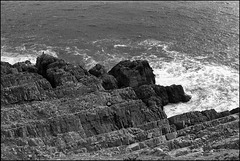 Cliffs near Caswell Bay, Gower.