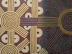 Art aborigène d'Australie, Musée des Confluences, Lyon (Rhône)