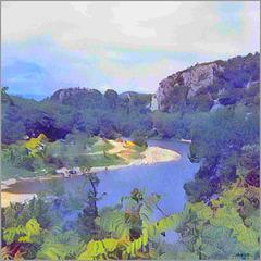 ...vue de l'Ardèche...