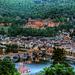 Heidelberg - Castle and Old Bridge at Dusk - Schloss und Alte Brücke in der Abenddämmerung (150°)