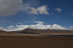 Bolivian Altiplano, Mountain Peaks on the Border of Bolivia and Chile