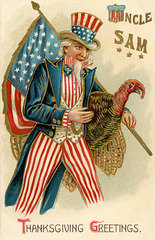 Uncle Sam's Thanksgiving Greeting